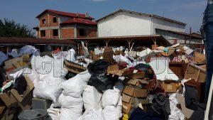 Извозване на чували със строителни отпадъци