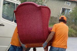 Изхвърляне на стар диван в Пловдив и фотьойли